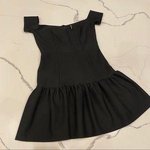 Lulu's Black Off-the-Shoulder Mini Dress